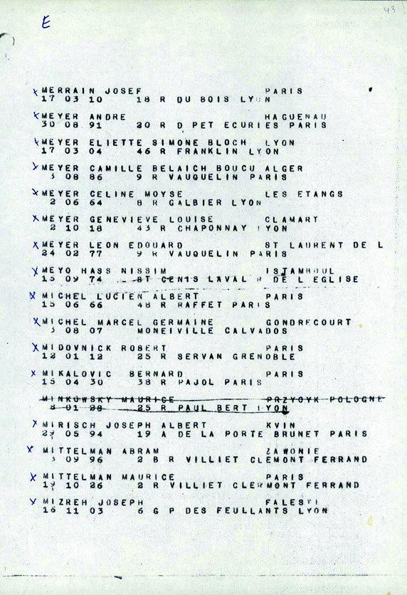 Minkowski-convoi-77 (Liste convoi de déportation)