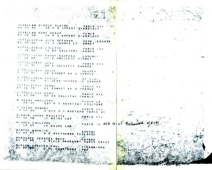 Morgan-Charles-convoi-76 (Liste convoi de déportation)