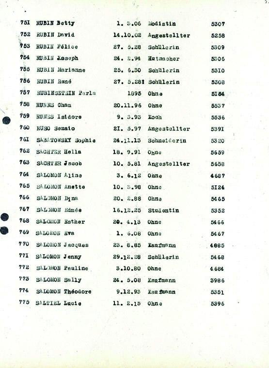 Rubin-convoi-60 (Liste convoi de déportation)