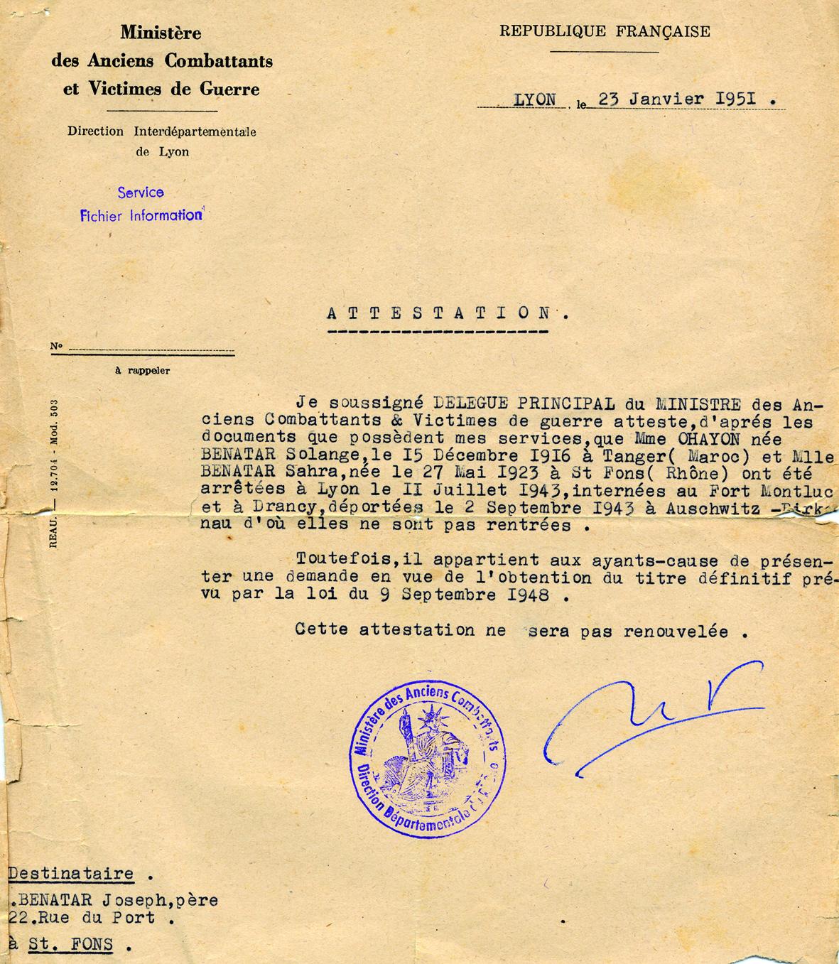 Benatar105 (Document officiel)