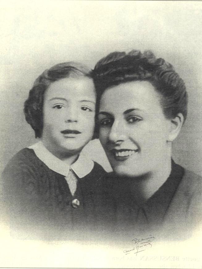 Claude Benmeleh et sa mère Suzanne