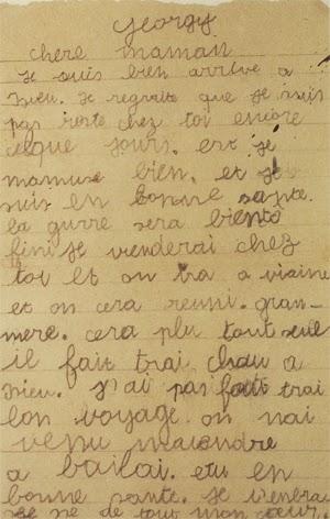 Lettre envoyée par Georges Halpern à sa mère