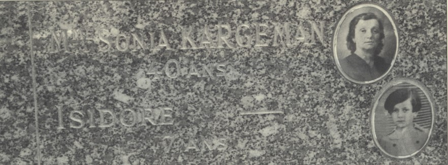 Tombe commémorative Isidore Kargeman