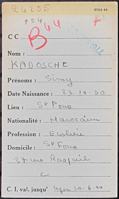 Simone-Lagrange Kadoshe Drancy
