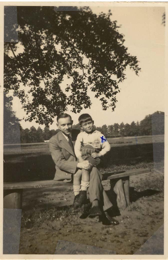 Georges et son père Pinkhas Mandelbaum