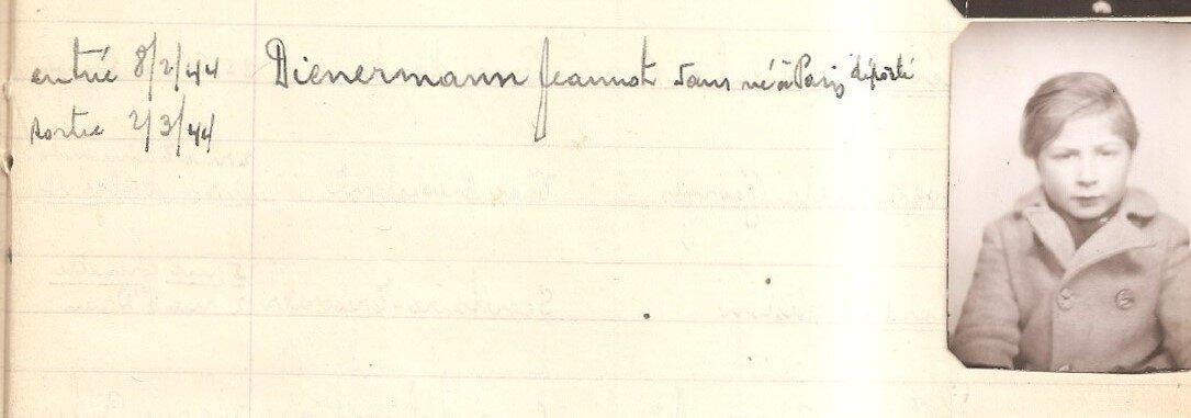 Jean-Marc Jeannot Dynerman Dienermann Maison du Refuge (08/02/1944 au 02/03/1944)