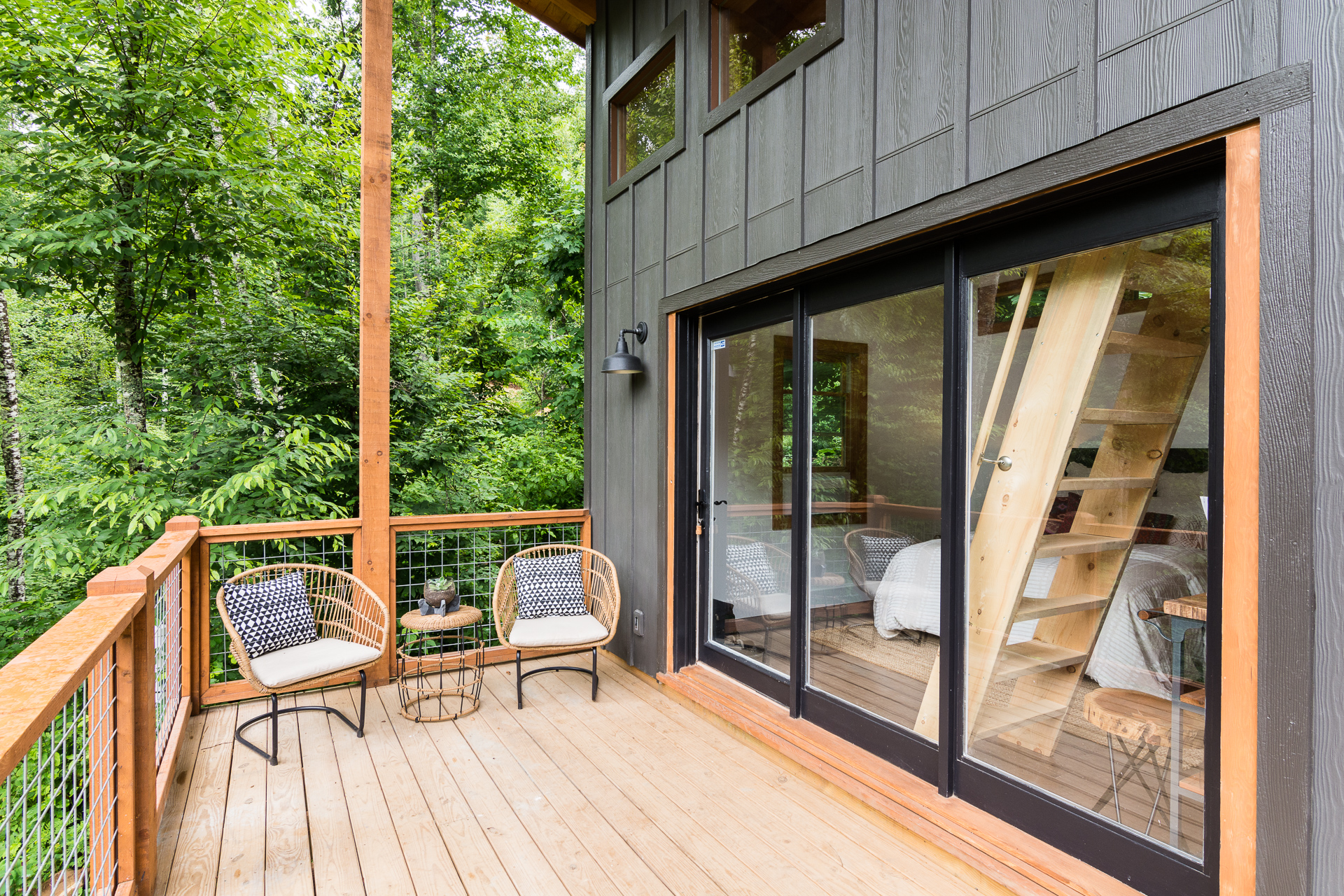 Modern updated cabin asheville north carolina
