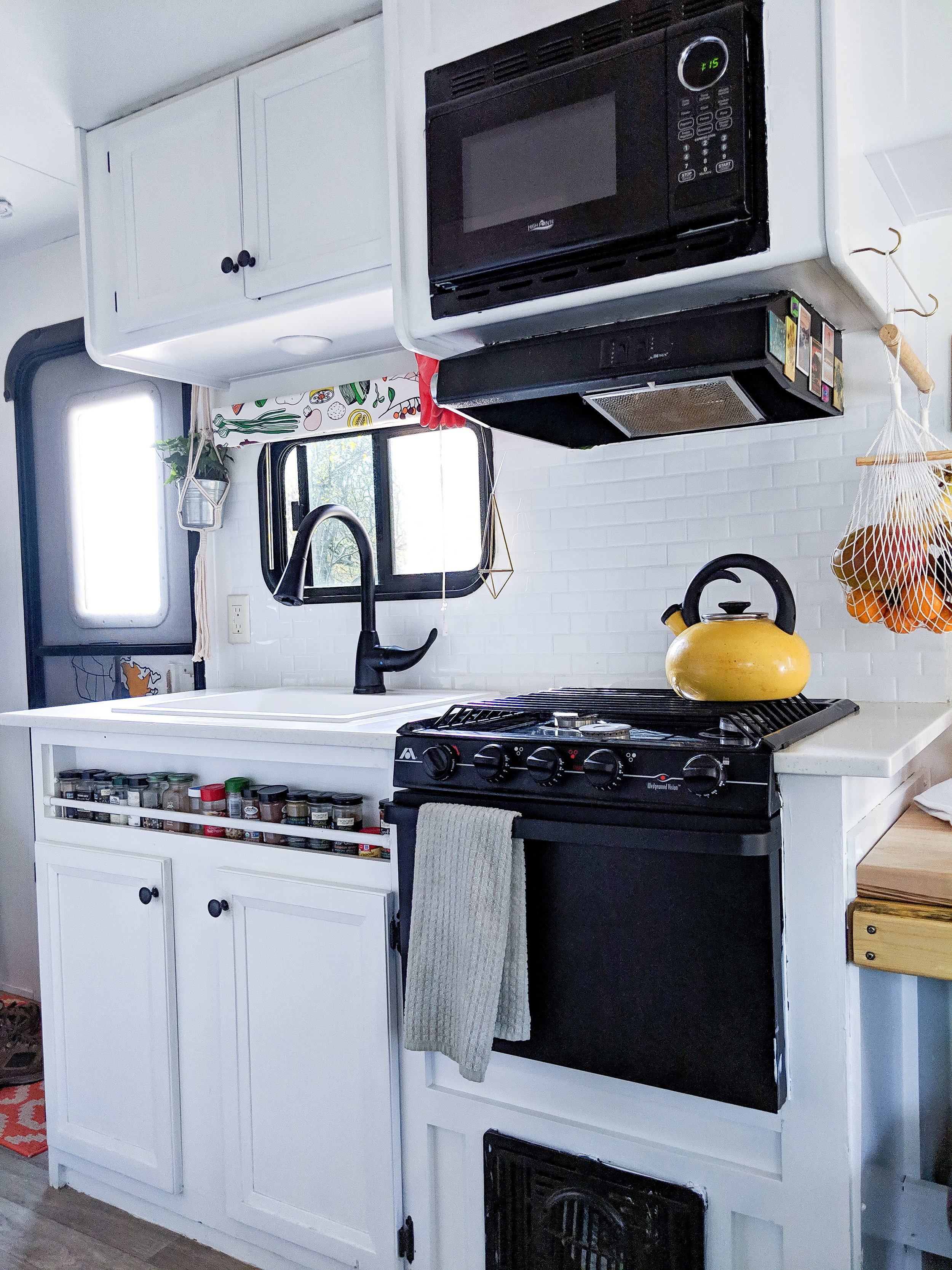 Full time RV renovation - kitchen after