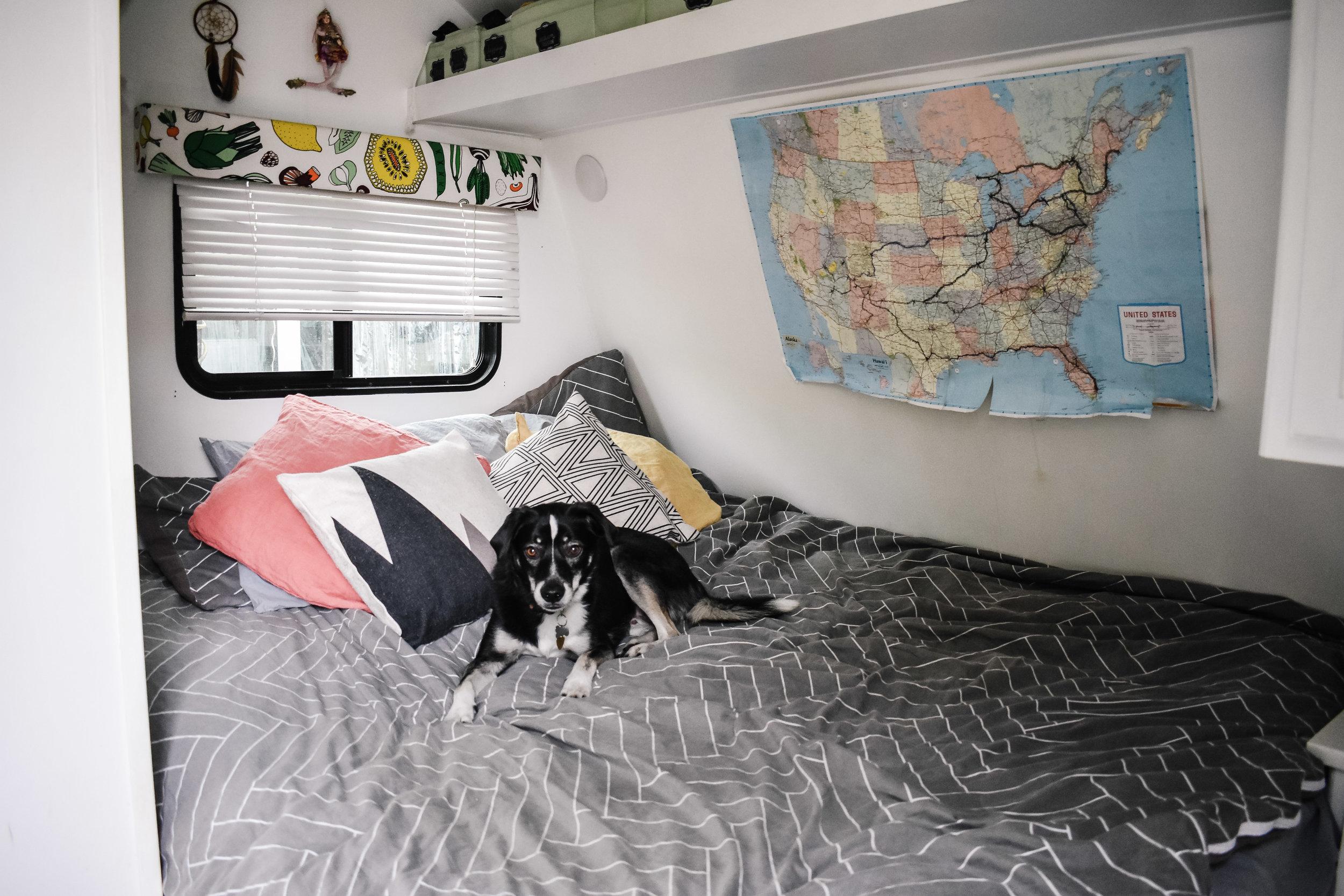 RV renovation bedroom