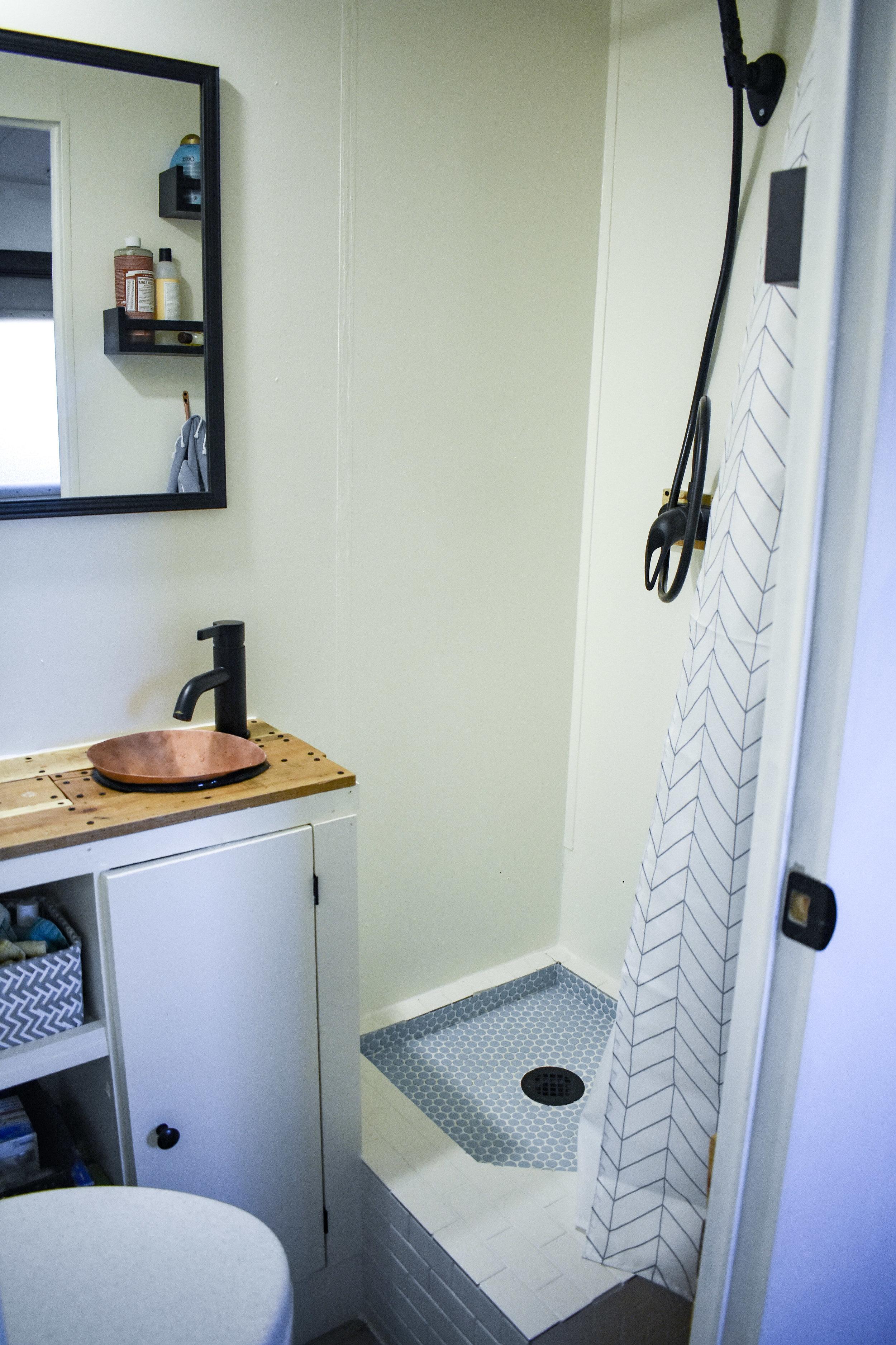 Custom RV Renovation Bathroom