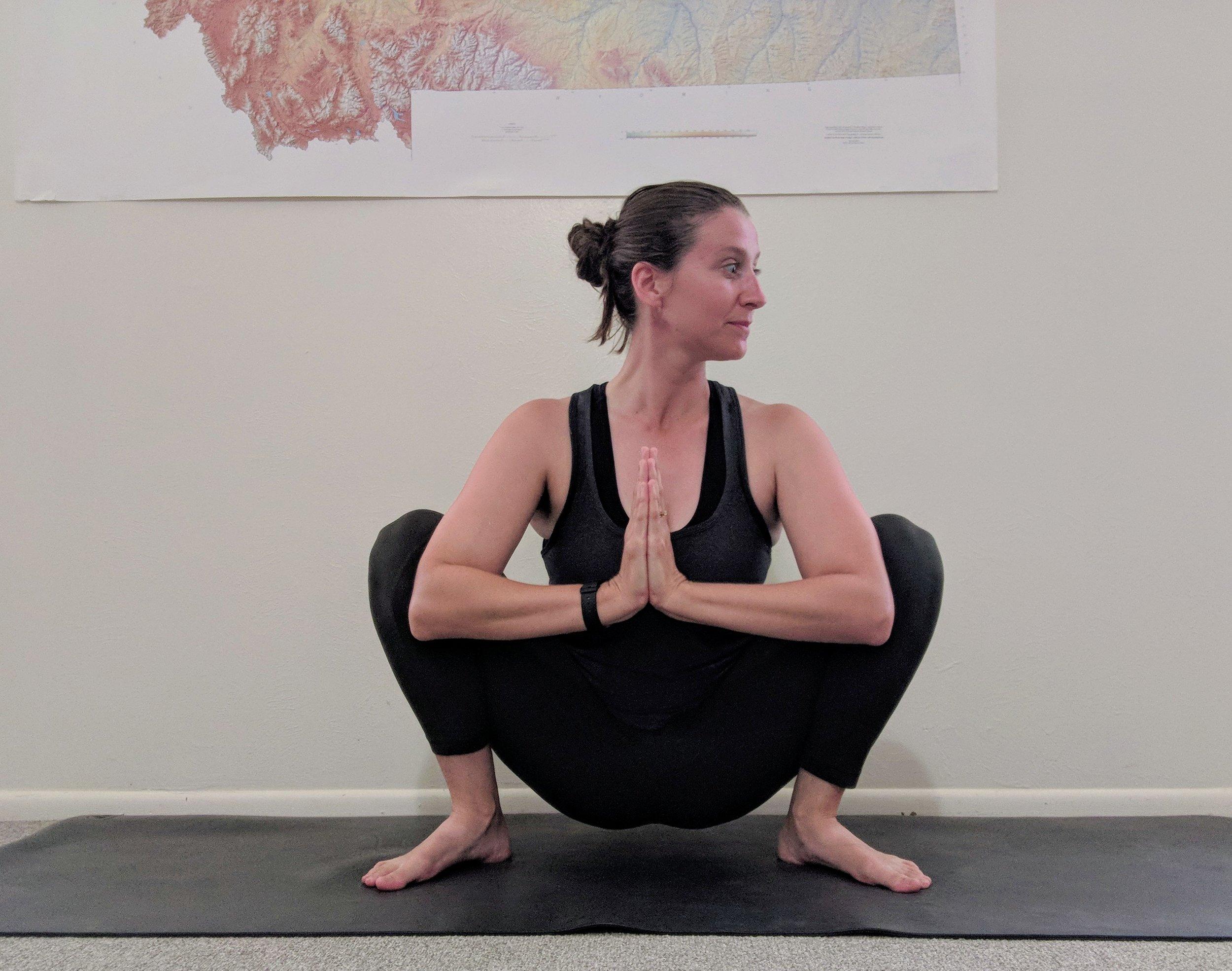 yogi squat pose