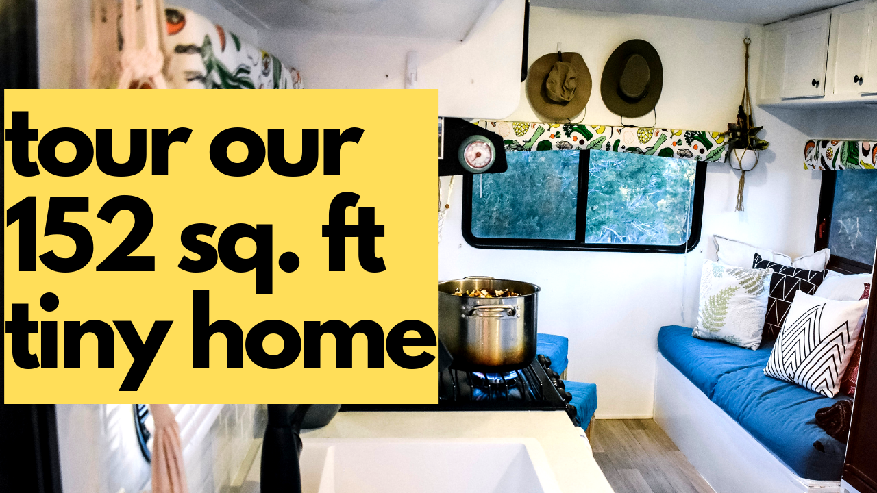 come on in!!! - Tune in to see how we live in 152 square feet with our two dogs! Living tiny is great BUT it gets messy really quick. In this video, we show you how quickly it gets cluttered and how quickly it cleans up! Don't miss this awesome tour PLUS hear all about why we love our composting toilet!