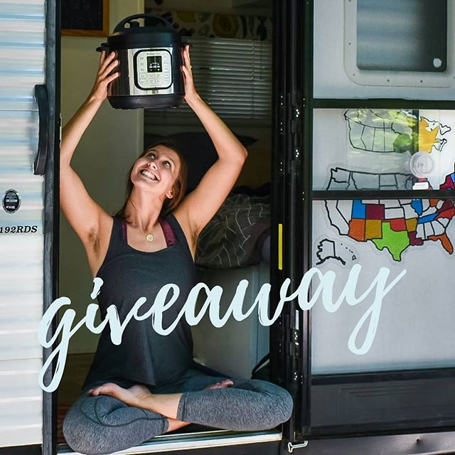 INSTANT POT GIVEAWAY!!!!!!! . . We are beyond excited to gift a lucky winner with the Duo Mini that is a STAPLE in our RV!!! This little instant pot is a game changer for quick and delicious meals. We loved it in our sticks and bricks home and we love it even more in our tiny traveling tin can. SO - how can you win this little gem of an appliance?? . . How to enter: 1️⃣ Like this photo  2️⃣ Follow @molly_pooler_yoga @mollyandjonathan and @instantpotofficial 3️⃣Tag one person in a comment (one comment = one entry, the more comments the more chances to win!) 4️⃣ For 5 bonus entries - repost this flyer in your story or feed, be sure to also tag @molly_pooler_yoga ! . . Giveaway will remain open until 11:59pm EST on Saturday June 22nd. Winners will be chosen randomly and announced shortly after! Good luck!!! 🎉🎉 . . Disclaimer: This contest is in no way sponsored, administered, or associated with Instagram, Inc. By entering, entrants confirm that they are 18+ years of age, release Instagram of responsibility, and agree to Instagram's term of use. This contest is for US and Canada residents excluding Hawaii and Alaska. . . . #tinyhouseonwheels #tinyliving #lifeontheroad  #tinyspaces #tinyhouse  #veganfood #veganlife #veganvibes #veganmeals #plantbased #vegandinner #rvlife #fulltimerv #vanlife #vanlifediaries #camperlife #instantpot #instantpotgiveaway #instantpotrecipes #instantpotcooking #instantpotaddict  #instantpotcommunity