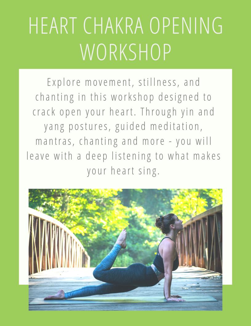 heart chakra opening workshop