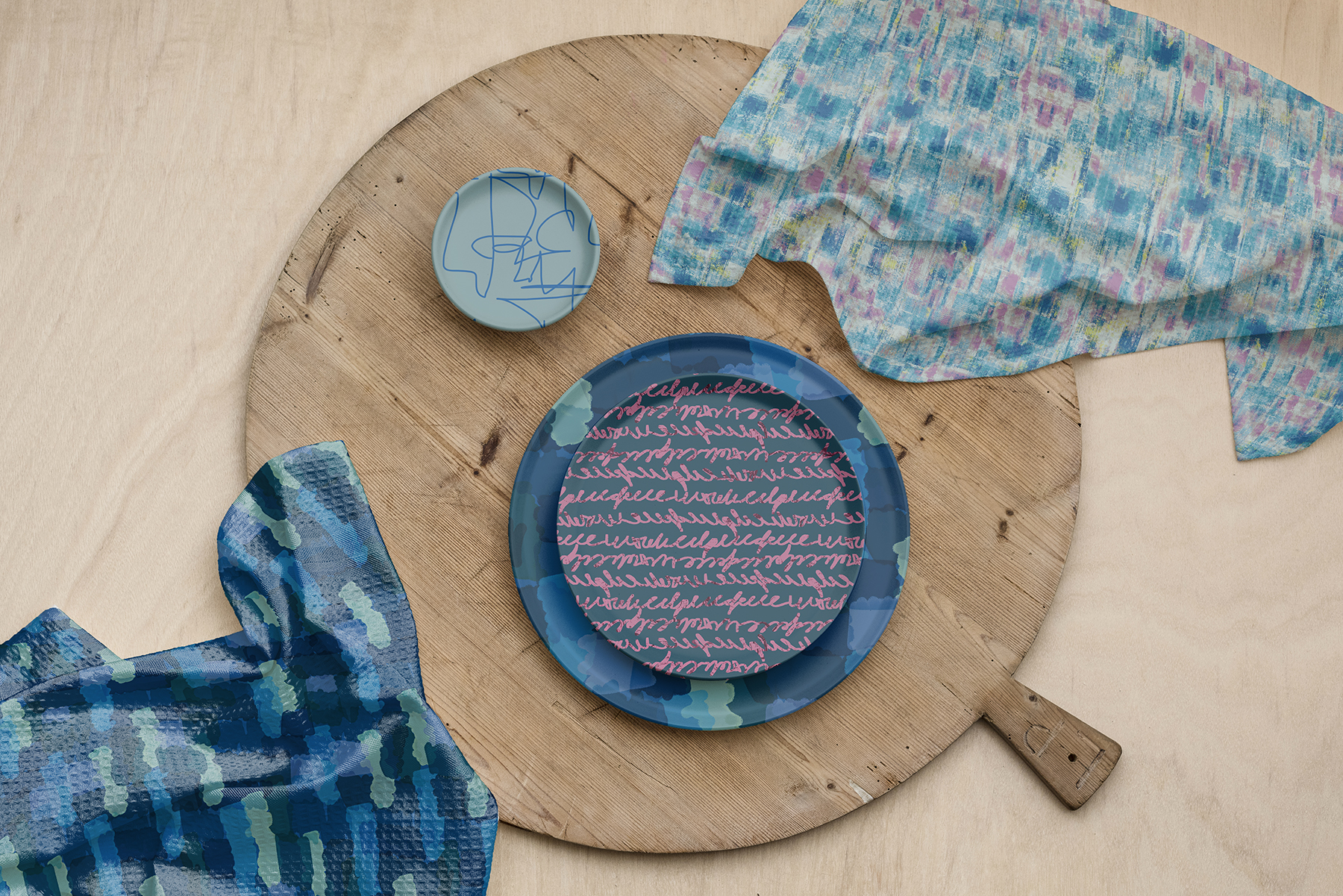 Tabletop featuring Bronx Collection Patterns