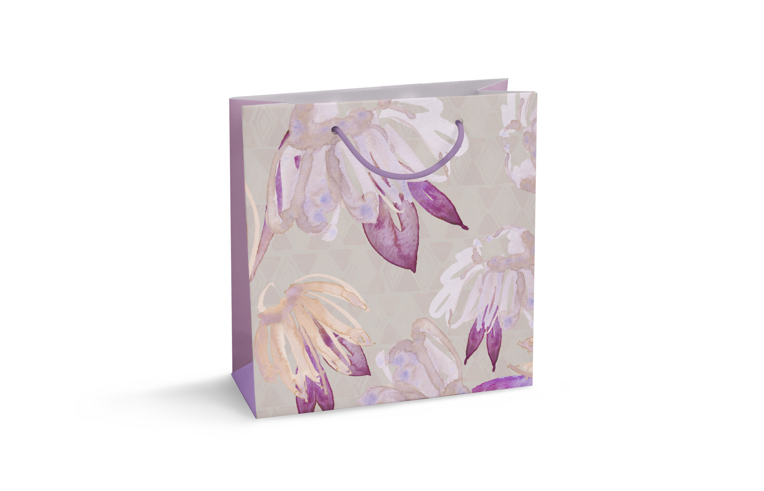 Gift bag with original watercolor by Jenny Bova