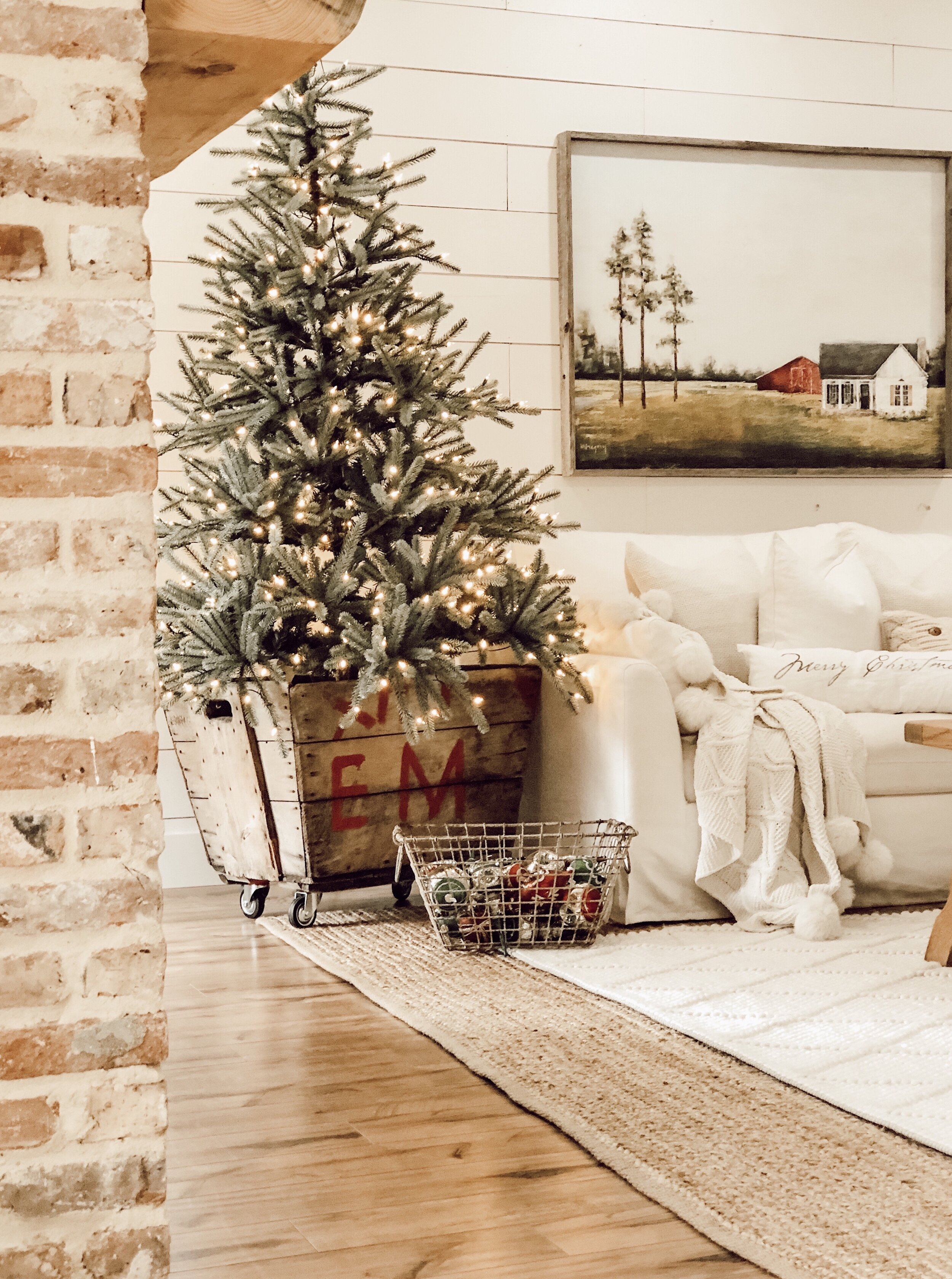 Farmhouse Christmas Tree Decorating With Balsam Hill Whitetail Farmhouse