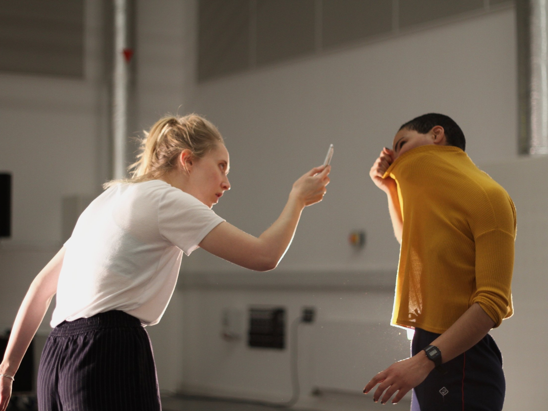 Grace Gibson and Natali McLeary; The Afflcted r&d - National Theatre of Scotland, 2018