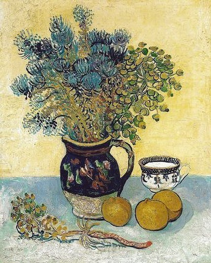 The beautiful colours of #vincentvangogh  #stilllife #artlovers #artsourcing #postimpressionism #interiorstylists