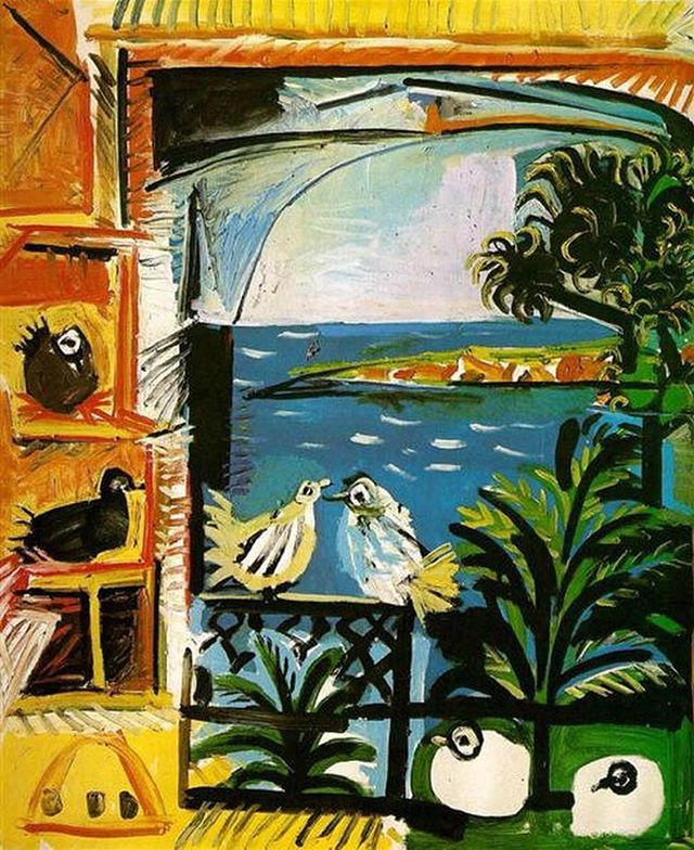 Art Inspiration #picasso - L'atelier Les Pigeons, 1957 #pablopicasso #cannes #modernart #expressionism #weheartart #artlover