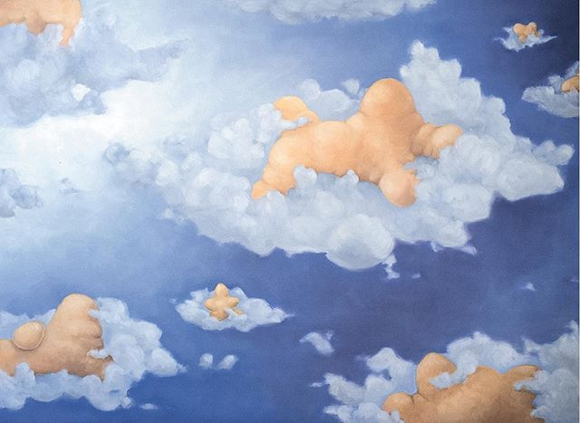 Abstract subjects hanging out on clouds ☁️☁️☁️. . . . . . #contemporarypainting #contemporaryart #womenartists  #cloud #abstractsubject