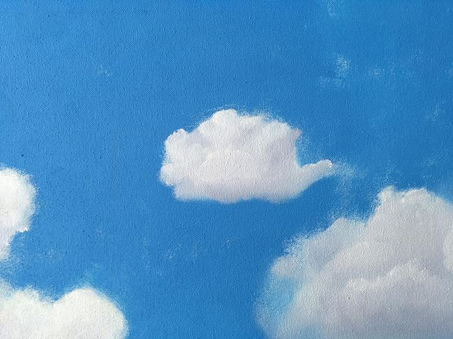 Small cloud. . . . . . #painting #contemporaryart #contrmporarypainting #cloud #paintedclouds