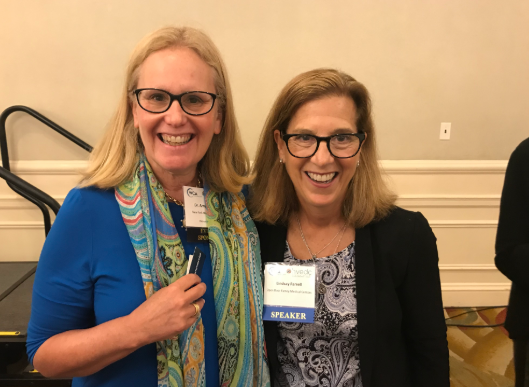 June 2019 - Dr. Amy Ansehl with Lindsay Farrel, CEO of the Open Door Healthcare Centers together at a local Social Determinants of Health Conference.