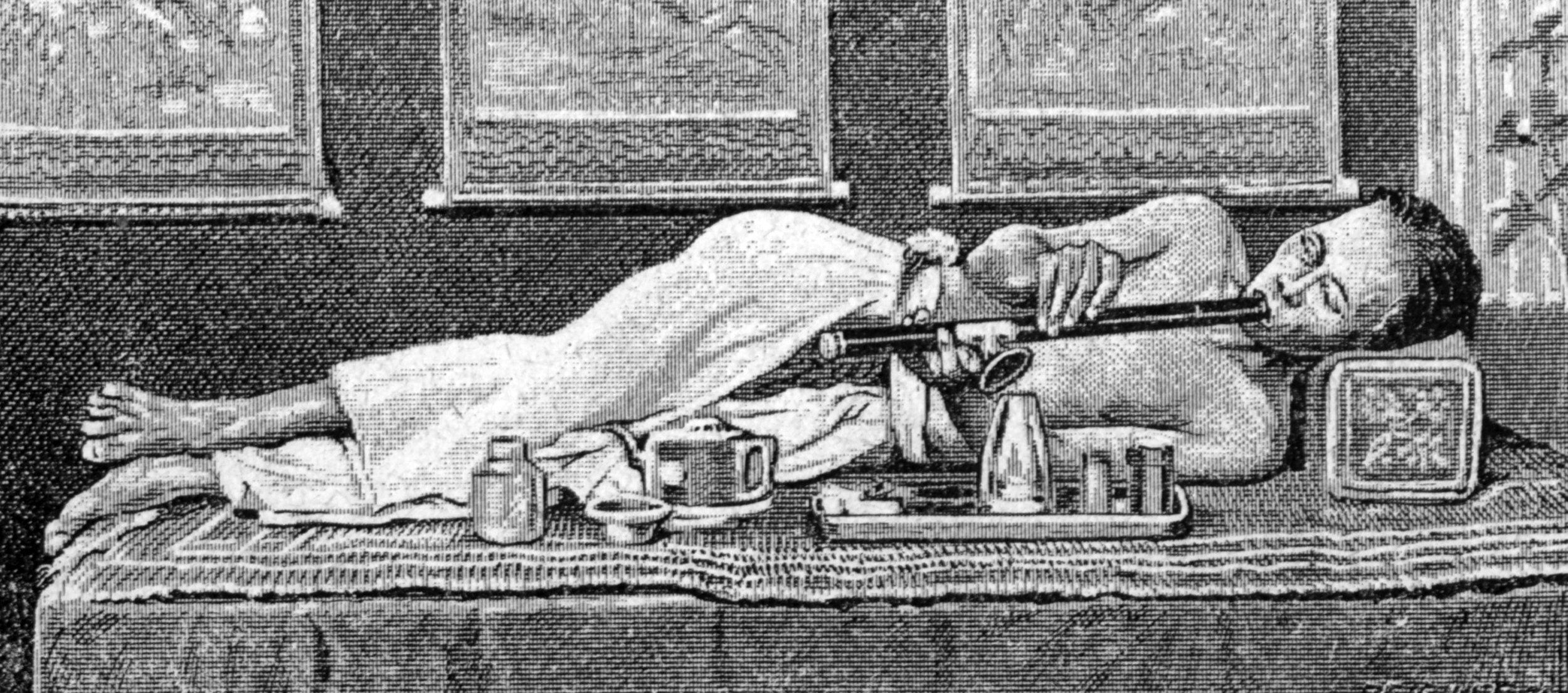 Opium addict – 19th century