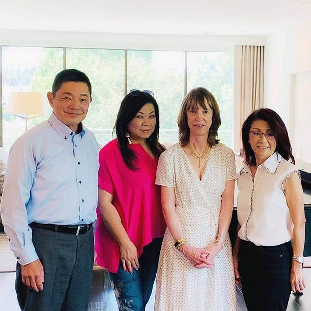 I was honored to host our friend @shihangelina and the wonderful @lisasee_writer at our home for lunch. Lisa is so brilliant (being a NYT bestseller after all!), and I'm so thankful to have shared my story and discussed historical fiction and publishing in general! I told Lisa that writing my book was a labor of love, and that I feel strongly that this story had to be told; she was so supportive...what a classy lady!