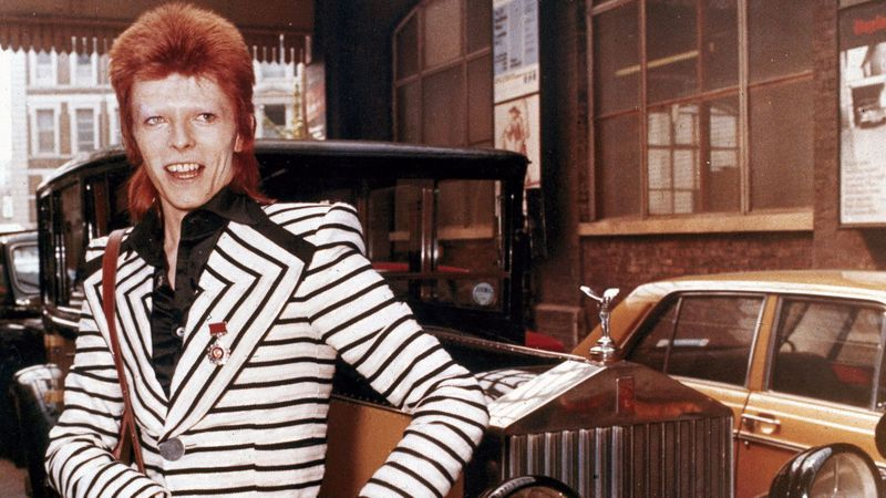 "David Bowie in May 1973; a year earlier, he'd memorably performed ""Starman"" on ""Top of the Pops."" (Associated Press)"