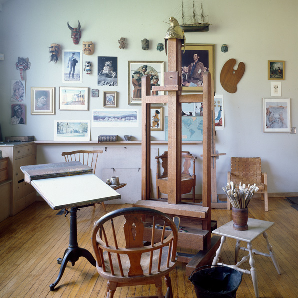 Norman Rockwell's studio in Stockbridge, Massachusetts. Photo by    Carol M. Highsmith.