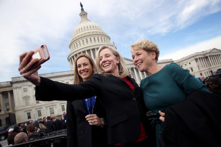 NEWSWEEK: Moderate Veterans Unite to Bolster Re-Election Hopes - Five freshmen female Democrats—Chrissy Houlahan of Pennsylvania, Abigail Spanberger and Elaine Luria of Virginia, Mikie Sherrill of New Jersey and Elissa Slotkin of Michigan—have teamed up to help make sure their center-left voices don't vanish from a Congress that has become more polarized in each of the past few elections.Read the full article here >