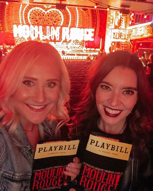Hey sista, go sista 🎵❤️ • What's a couple days in NY without going to see a broadway show! Having a little fun after 2 days spent working on TRIBE business! •  Anyone else Moulin Rouge as much as we do?! 🤷🏼‍♀️