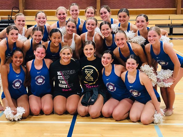 @cherrycreekpoms POM CHOREO 2019-2020 ✅ ❤️ • Creek ladies will ALWAYS have a special place in our hearts! 🍒💕They are an incredible program as a whole and such talented dancers!! You kiddos keep us young and always make us laugh! We Love you all and can't wait to see this routine live on the floor! Creek is coming in strong this season!!!! #UDANationals2020 #PomChoreography #TRIBE99Choreography