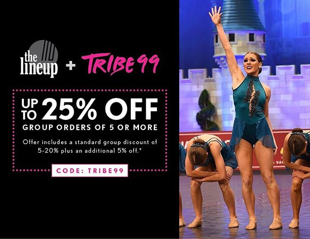 HAPPY MONDAY TRIBE 💥💥💥 We have some exciting news to share! We have teamed up with @thelineup to offer YOUR TEAM an incredible discount again this season! • It's that time of year to start ordering costumes for competition season & we highly recommend using The Line Up! The quality and customer service they provide is unmatched. They offer costuming for all styles and can even create something customized just for your team! 💕 • Use code ➡️ TRIBE99 to get an additional 5% off your group order dependent on quantity! Share this code with your friends by commenting below!! #thelineup #TRIBE99 #thelineup #TLUxTRIBE99 #danceteam #dancecostumes