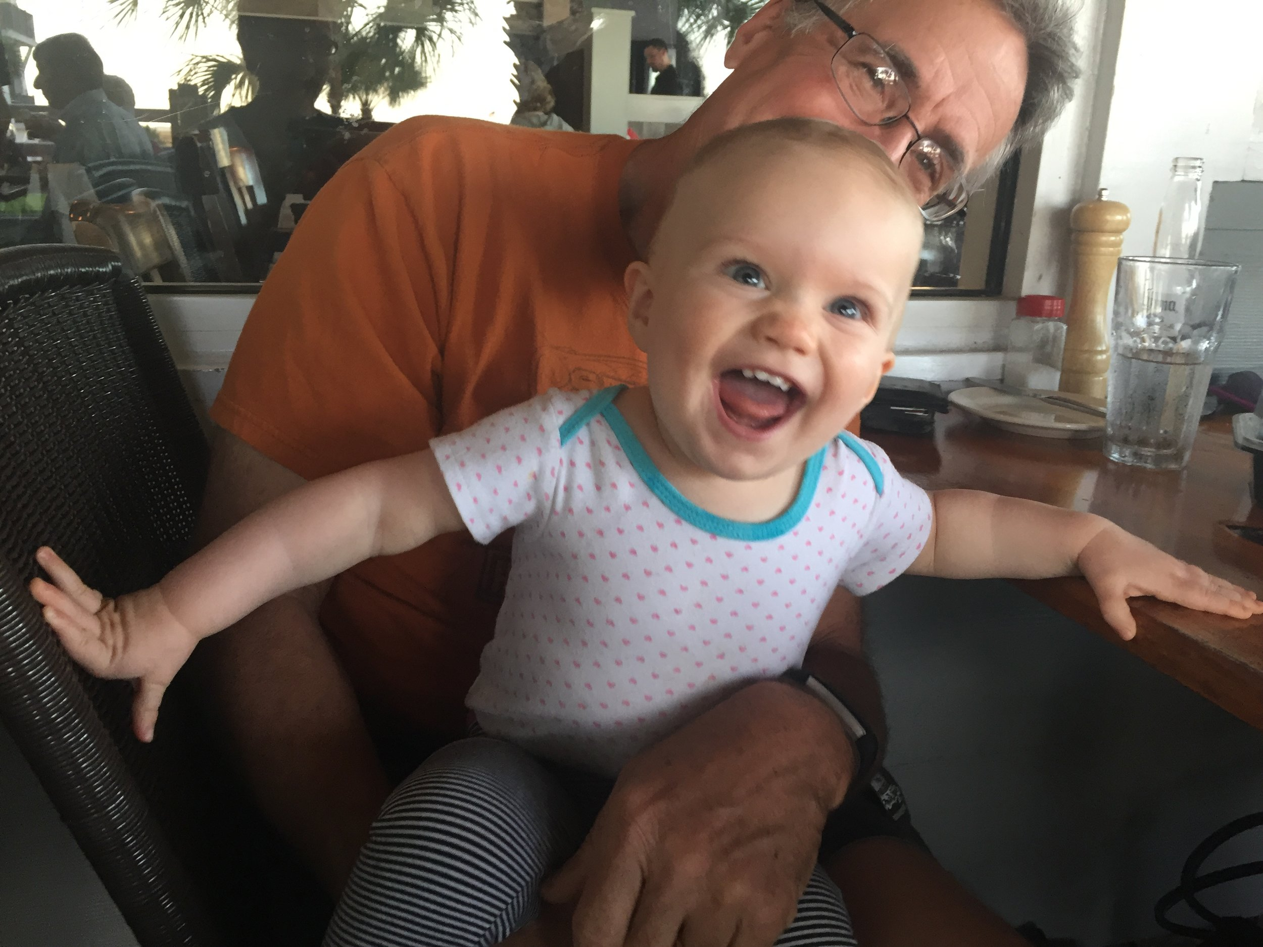 Grand-pop and Hadley.