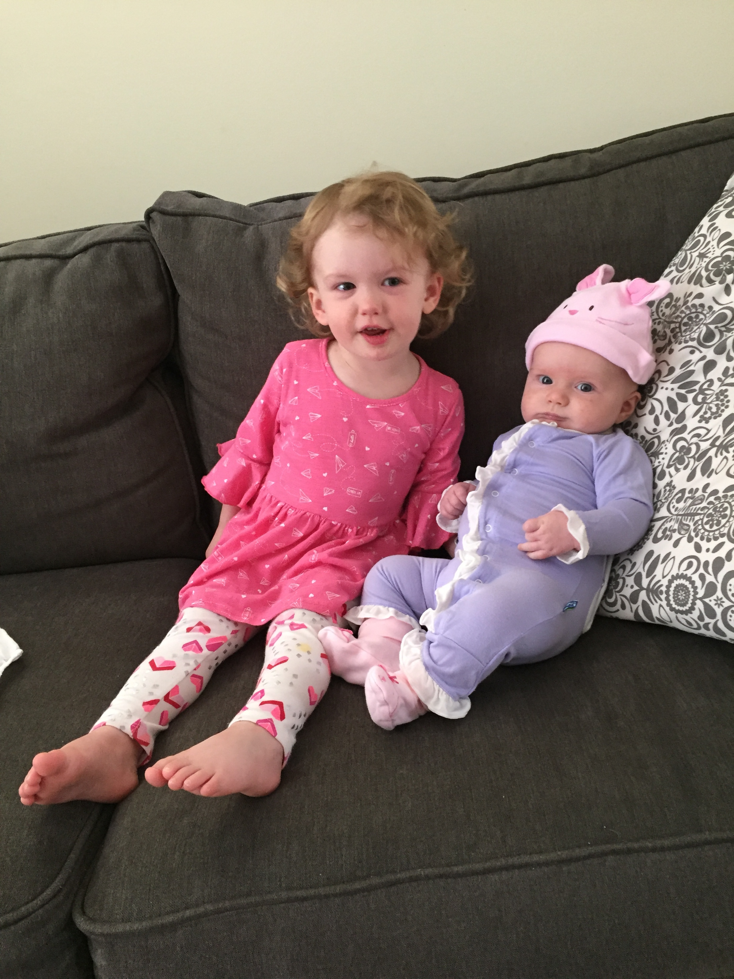 Abigale and Hadley last Easter. April 1, 2018.