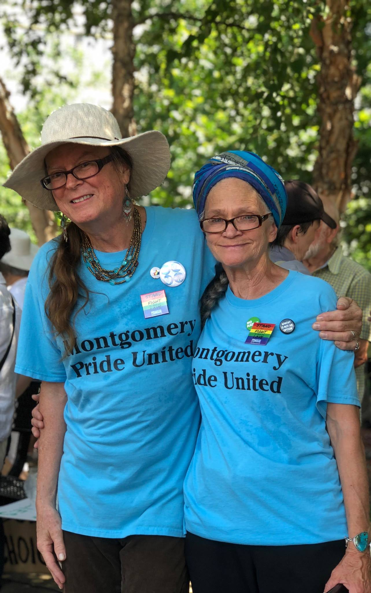Our Founders - Meta Ellis and Ms. Harvey McDaniel are our Director and Educational Outreach Director. Meta Ellis has been a life-long activist for human and animal rights here in Montgomery, AL as well as California, Arizona, Ohio, and Washington D.C. She is the Director of Montgomery Pride United and the co-founder of the Bayard Rustin Community Center. She is passionate about working to help create the Beloved Community as we strive for equality for all. She was also selected to represent Alabama in USA Today's