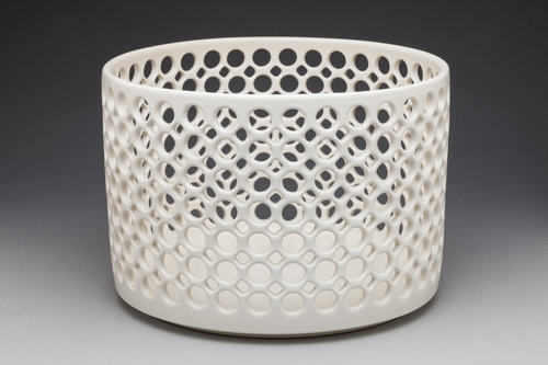 Cylindrical Lace Bowl
