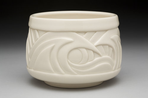 Cylindrical Tempest Tea Bowl - Color: White (Clear glaze)Material: Porcelain