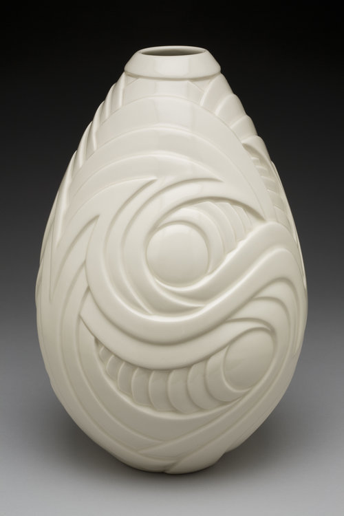 Tempest in a Teardrop - Color: White (Clear glaze)Material: Porcelain