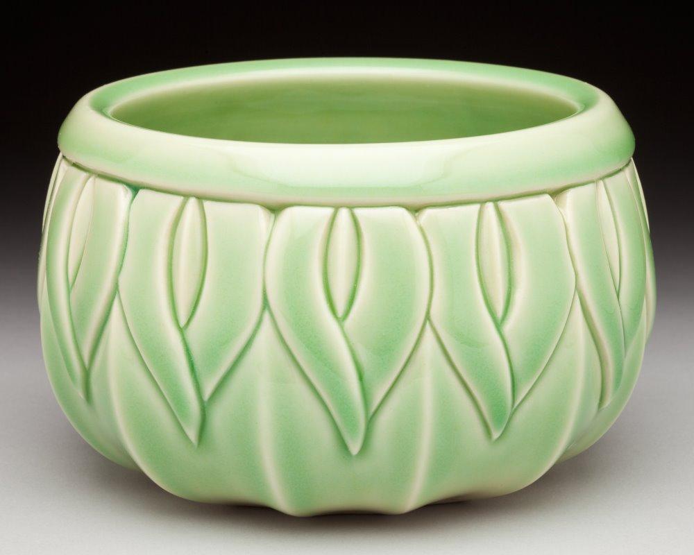 Lotus Bowl, Green Celadon