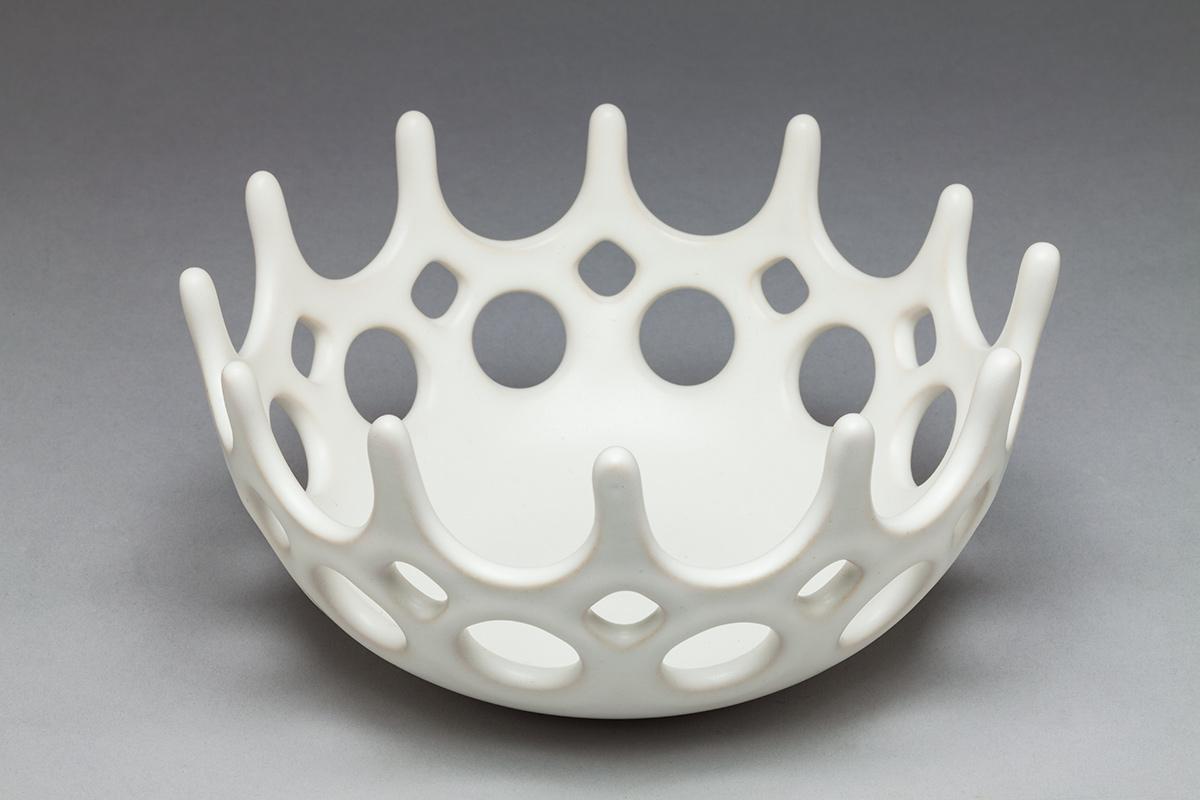 Crown Bowl, white