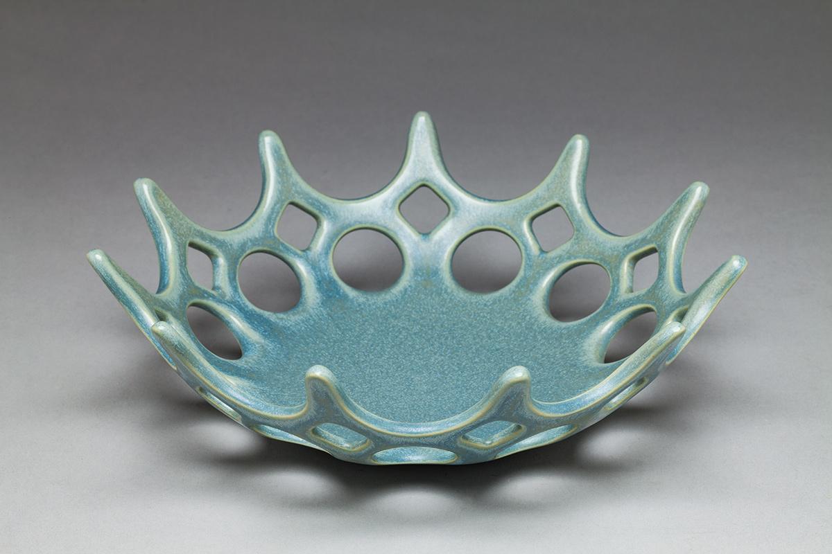 Crown Bowl, blue/green