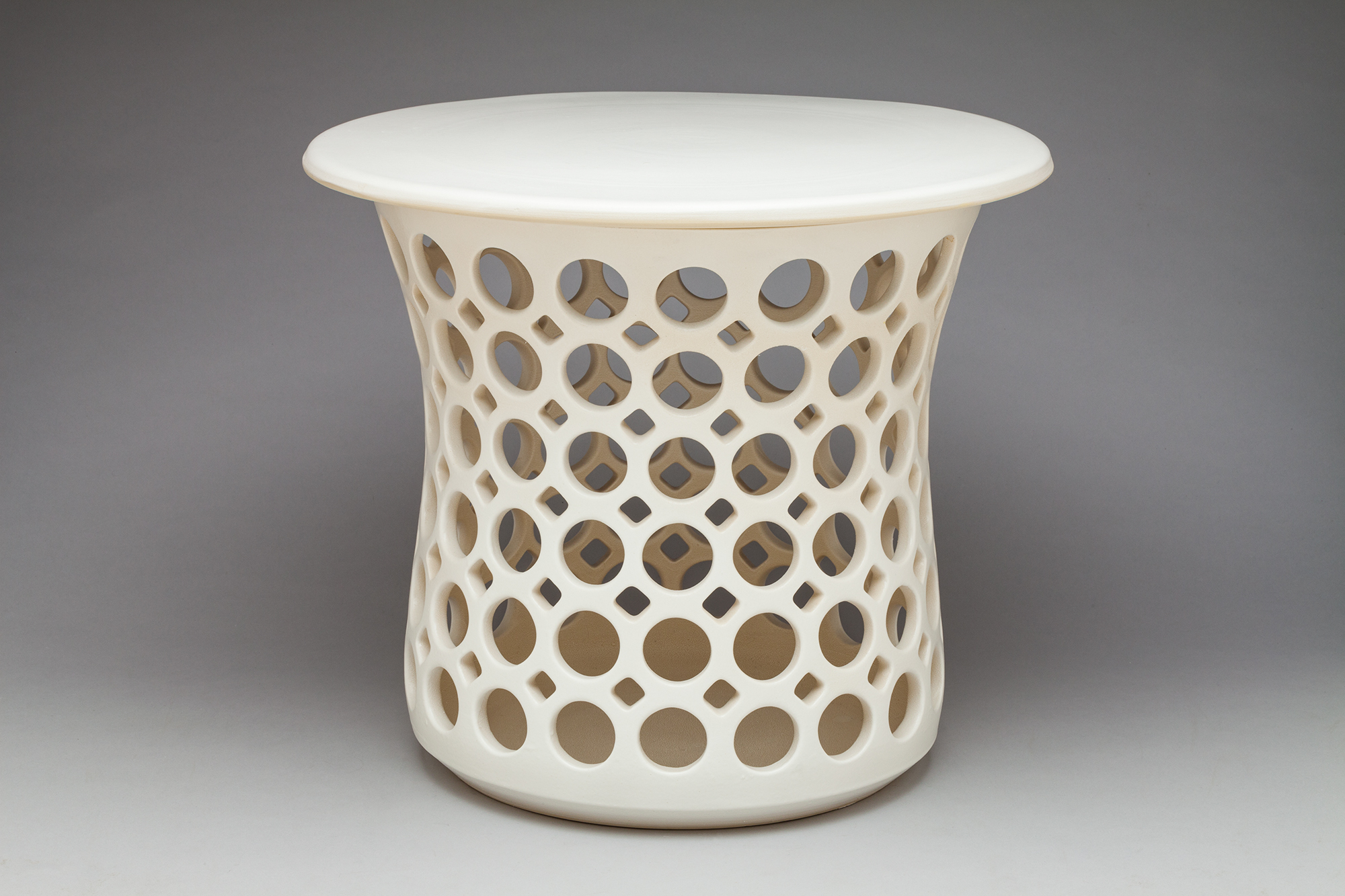 Stout Openwork Hourglass Table / Stool - Dimensions: 15 1/2