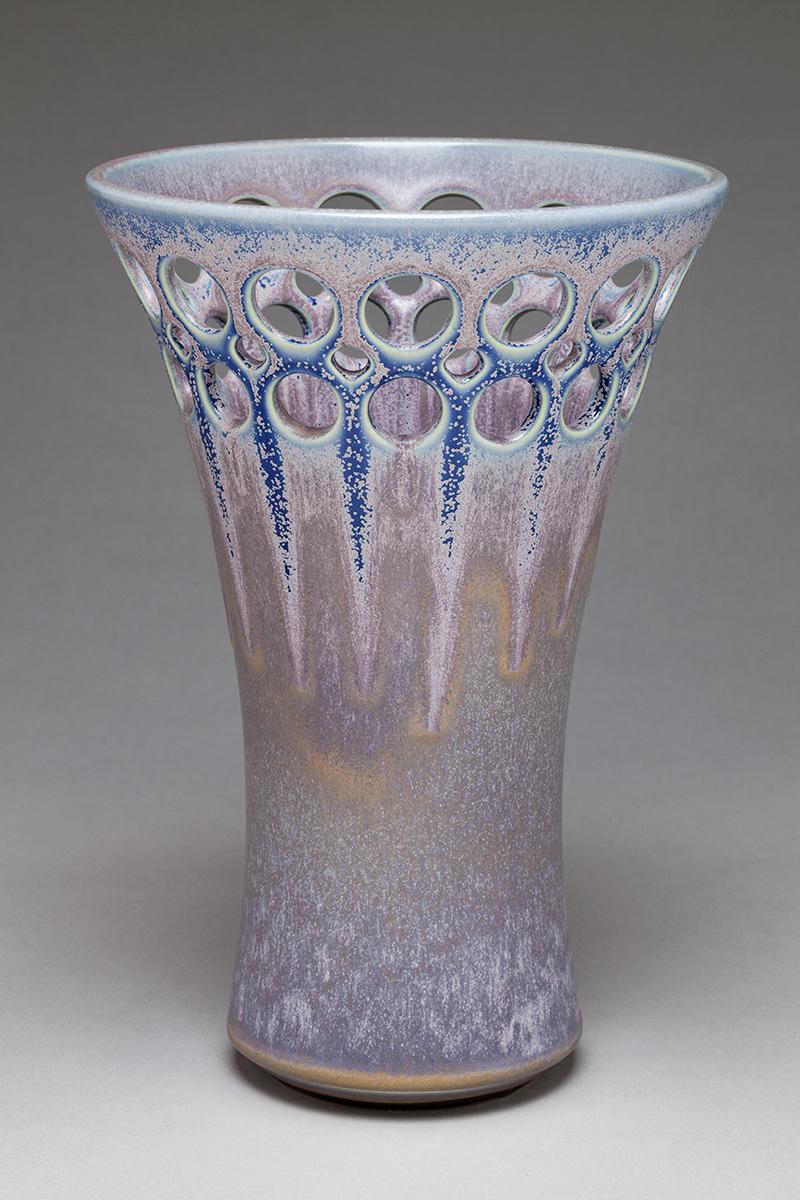 Starburst Flare Double Pierced Vase - Dimensions: 12