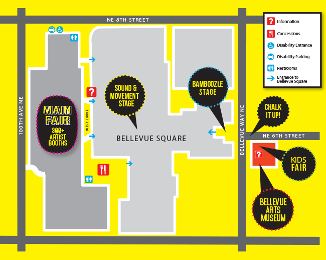 BAM ARTSfair Map and Directions