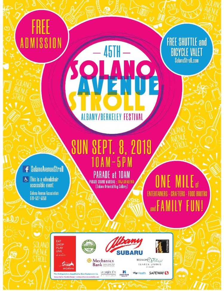 45th Annual Solano Avenue Stroll