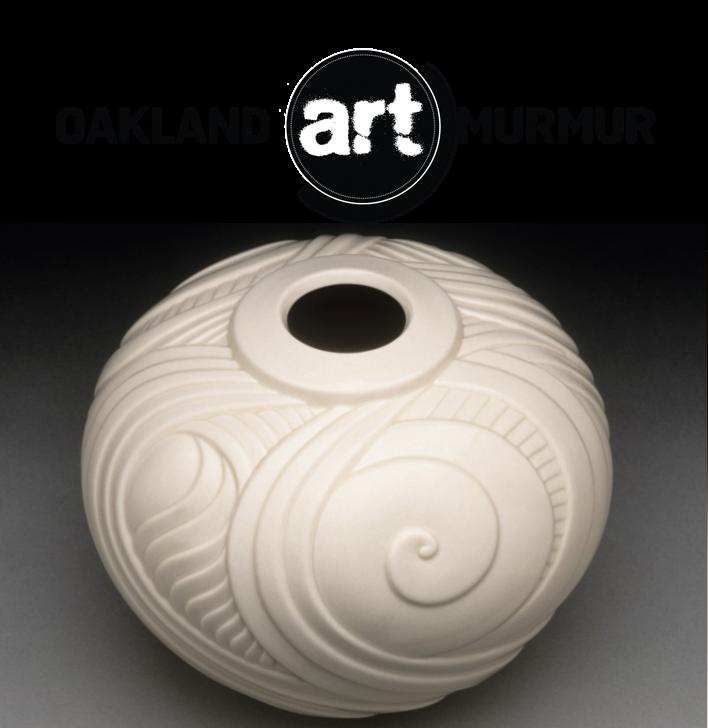 Lynne Meade Perpetual Motion Vase Clear Glaze at Oakland Art Murmur