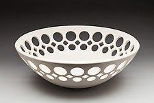 Round Half Openwork Bowl - Dimensions: 3 1/2